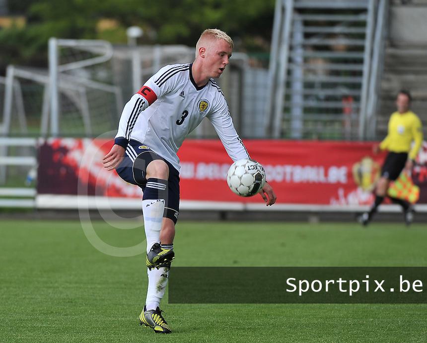 Scotland U19 - Belgium U19 : Jack Grimmer.foto DAVID CATRY / Nikonpro.be