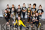 Eliza Jane Brown, winner of the Spectrum All Ireland Free style 2018 with her classmate at the Revolution Dance Studio Court House Lane, Tralee on Monday who also collected silverware the Spectrum All Ireland Dance Championships.  <br /> On the floor: Eliza Jane Brown<br /> 1st row, l-r, Lexi O&rsquo;Connor, Carrie Ann Ahern, Aoibheann Pavlovic, Lottie May and Kelly Anne Lynch.<br /> Back back l-r, Katelyn O&rsquo;Connor Kelly, Mia Patterson, Catelin Mahoney, Ciara Duggan, Georgia Browne, Elise Lulunba and Jennifer Kerins.