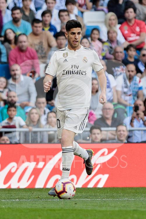 Real Madrid's Marco Asensio during La Liga match between Real Madrid and Real Club Celta de Vigo at Santiago Bernabeu Stadium in Madrid, Spain. March 16, 2019. (ALTERPHOTOS/A. Perez Meca)