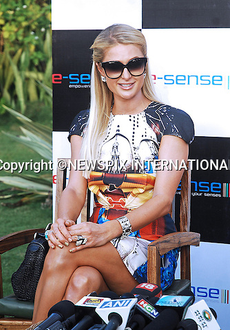 """01.12.2012; Goa: PARIS HILTON FASHION FAUX PAS.Forgets to paint over her fingernail..The American heiress and socialite acted as DJ at the closing of the annual Fashion Show held on Candolim Beach, Goa_01/12/2012.Mandatory Photo Credit: ©NEWSPIX INTERNATIONAL..**ALL FEES PAYABLE TO: """"NEWSPIX INTERNATIONAL""""**..PHOTO CREDIT MANDATORY!!: NEWSPIX INTERNATIONAL(Failure to credit will incur a surcharge of 100% of reproduction fees)..IMMEDIATE CONFIRMATION OF USAGE REQUIRED:.Newspix International, 31 Chinnery Hill, Bishop's Stortford, ENGLAND CM23 3PS.Tel:+441279 324672  ; Fax: +441279656877.Mobile:  0777568 1153.e-mail: info@newspixinternational.co.uk"""