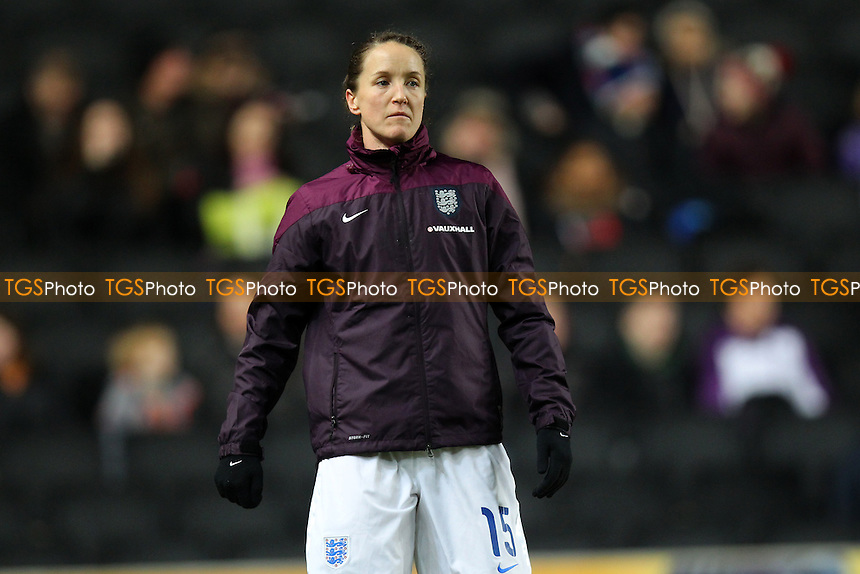 Casey Stoney of England - England Women vs USA Women - International Football Friendly Match at Stadium MK, Milton Keynes Dons FC - 13/02/15 - MANDATORY CREDIT: Gavin Ellis/TGSPHOTO - Self billing applies where appropriate - contact@tgsphoto.co.uk - NO UNPAID USE