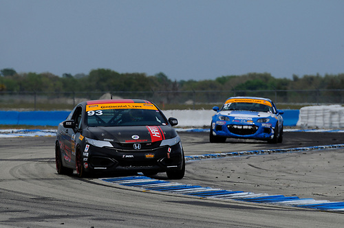 16-18 March, 2016, Sebring, Florida, USA<br /> #93 Chad Gilsinger, Michael Valiante, Honda Civic Si<br /> © 2016, Jay Bonvouloir, ESCP