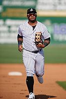 Jackson Generals outfielder Jeffrey Baez (33) during a Southern League game against the Mississippi Braves on July 23, 2019 at The Ballpark at Jackson in Jackson, Tennessee.  Jackson defeated Mississippi 2-0 in the first game of a doubleheader.  (Mike Janes/Four Seam Images)