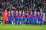 FC Barcelona's Jasper Cilissen, Leo Messi, Javier Mascherano, Denis Suarez, Andres Iniesta, Aleix Vidal, Samuel Umiti, Andre Gomes, Arda Turan during Champions League match between Futbol Club Barcelona and VfL Borussia Mönchengladbach  at Camp Nou Stadium in Barcelona , Spain. December 06, 2016. (ALTERPHOTOS/Rodrigo Jimenez)