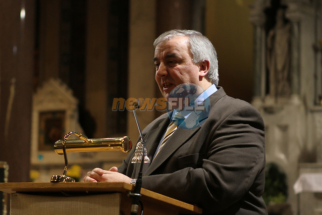Sean Collins at the Book Launch in the Augustinian Church of the Biography of Augustinian Priest Fr.Anderson written by James Flynn...Photo NEWSFILE/Jenny Matthews..(Photo credit should read Jenny Matthews/NEWSFILE)
