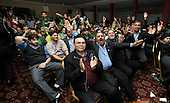 Over 400 Pakistan and India fans got together in Glasgow for the Cricket World Cup semi-final yesterday (wed) - in the Kabana Restaurant on the South side of the city watching the game live on cinema type screens - watched in good humour by the largley Pakistani - Picture by Donald MacLeod - 30.03.11 - 07702 319 738 - www.donald-macleod.com