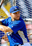 13 March 2007: Los Angeles Dodgers catcher Russell Martin takes batting practice prior to facing the Detroit Tigers in a spring training game at Holman Stadium in Vero Beach, Florida.<br /> <br /> Mandatory Photo Credit: Ed Wolfstein Photo