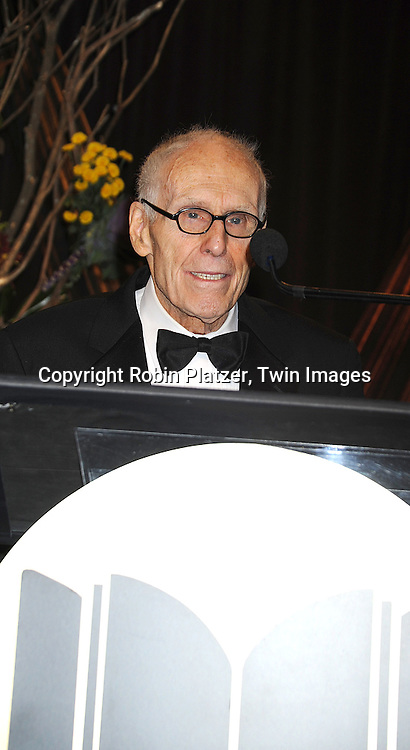 Barney Rosset, awarded The Literarian Award for Outstanding Service to the American Literary Community..at The 2008 National Book Awards Dinner and Ceremony on November 19, 2008 at Cipriani's Wall Street in New York City. ....Robin Platzer, Twin Images