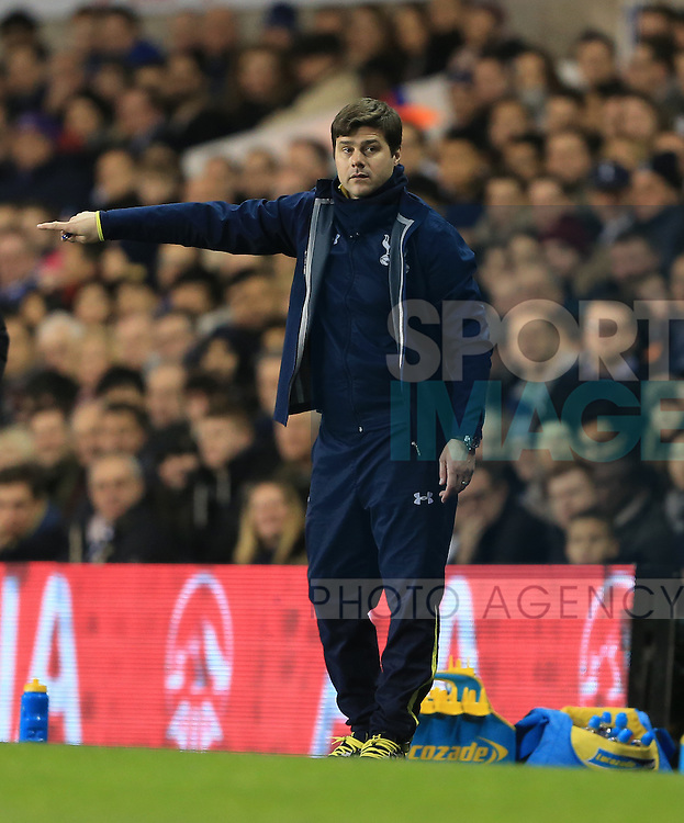 Tottenham's Mauricio Pochettino in action<br /> <br /> Barclays Premier League - Tottenham Hotspur vs Chelsea - White Hart Lane  - England - 1st January 2015 - Picture David Klein/Sportimage