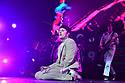 """MIAMI BEACH, FL - OCTOBER 29: Oliver Sykes of Bring Me The Horizon performs on stage during """"Threesome Tour"""" at The Fillmore Miami Beach at the Jackie Gleason Theater on October 29, 2019 in Miami Beach, Florida.  ( Photo by Johnny Louis / jlnphotography.com )"""