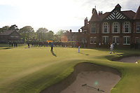Harry Goddard (Hanbury Manor) on the 18th green during Round 4 of the Lytham Trophy 2019, held at Royal Lytham & St. Anne's, Lytham, Lancashire, England. 05/05/19<br /> <br /> Picture: Thos Caffrey / Golffile<br /> <br /> All photos usage must carry mandatory copyright credit (© Golffile | Thos Caffrey)