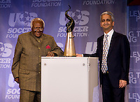 Desmond Tutu, Sunil Gulati. The 2010 US Soccer Foundation Gala was held at City Center in Washington, DC.