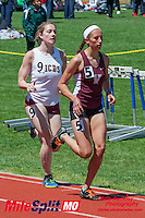 Villa Duchesne's Hannah Deines and MICDS' Geneva Lee went 1-2 in the 1600 meters at the 2016 MSHSAA Class 4 District 3 Track and Field Meet at Ladue High School, St. Louis, Saturday, May 14.