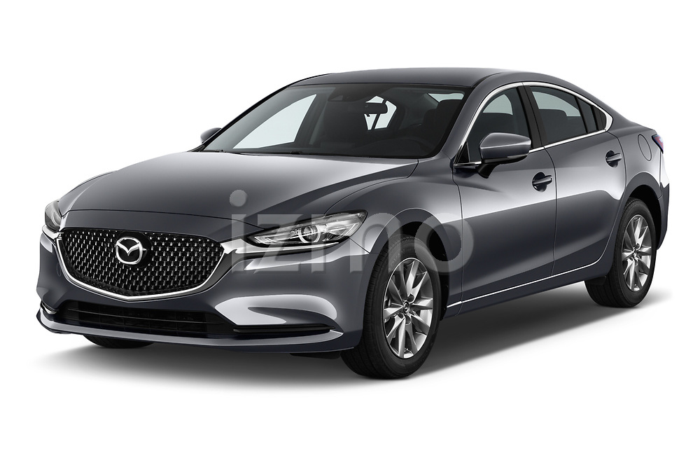 2018 Mazda Mazda6 Dynamique 4 Door Sedan Angular Front stock photos of front three quarter view
