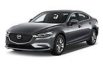 2018 Mazda Mazda6 Dynamique 4 Door Sedan Angular Front stock photos of front three quarter view