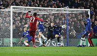 Liverpool's Divock Origi is foiled by Chelsea's Kepa Arrizabalaga<br /> <br /> Photographer Rob Newell/CameraSport<br /> <br /> The Emirates FA Cup Fifth Round - Chelsea v Liverpool - Tuesday 3rd March 2020 - Stamford Bridge - London<br />  <br /> World Copyright © 2020 CameraSport. All rights reserved. 43 Linden Ave. Countesthorpe. Leicester. England. LE8 5PG - Tel: +44 (0) 116 277 4147 - admin@camerasport.com - www.camerasport.com