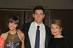 """Prospect Park's All My Children's Denyse Tontz """"Miranda Montgomery"""" (L) poses with Robert Scott Wilson """"Pete Cortlandt"""" & Julia Barr """"Brooke Englh at New York Premiere Event for beloved series """"All My Children"""" on April 23, 2013 at NYU Skirball, New York City, New York  as The Online Network (TOLN) - AMC - OLTL  begin airing on April 29, 2013 on Hulu, Hulu Plus. (Photo by Sue Coflin/Max Photos)"""