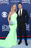 07 April 2019 - Las Vegas, NV - Miranda Lambert, Brendan McLoughlin. 2019 ACM Awards at MGM Grand Garden Arena, Arrivals.<br /> CAP/ADM/MJT<br /> &copy; MJT/ADM/Capital Pictures
