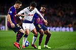 UEFA Champions League 2018/2019 - Matchday 6.<br /> FC Barcelona vs Tottenham Hotspur FC: 1-1.<br /> Vermaelen, Son Heung-Min & Semedo.