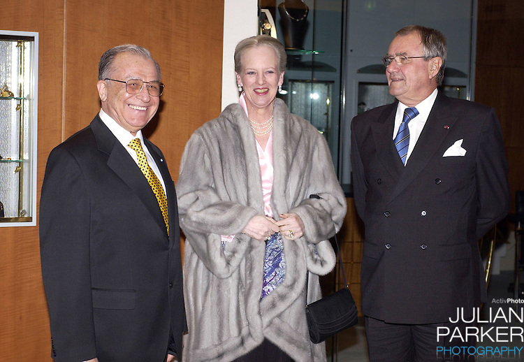 Queen Margrethe II of Denmark & Prince Henrik attend a Return Arrangement at the Marriott Hotel in Copenhagen during the State Visit of H.E Mr Ion Iliescu, The President of Romania..