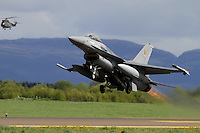 Dutch F-16 takes off . Nato Tiger Meet is an annual gathering of squadrons using the tiger as their mascot. While originally mostly a social event it is now a full military exercise. Tiger Meet 2012 was held at the Norwegian air base Ørlandet.