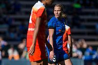 Seattle, Washington - Sunday, June 12, 2016: Seattle Reign FC forward Merritt Mathias (9) during a regular season National Women's Soccer League (NWSL) match at Memorial Stadium. Seattle won 1-0.