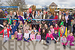 Kerry Mayor Bobby O'Connell cuts the tape to officially the new playground in Castleisland on Sunday.