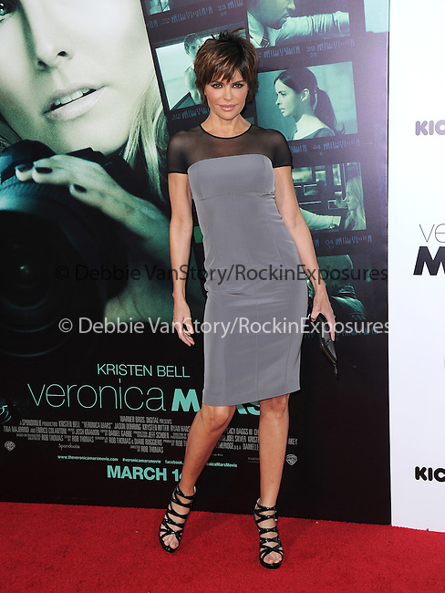 Lisa Rinna  attends The Warner Bros. L.A. Premiere of Veronica Mars Movie held at The TCL Chinese Theatre in Hollywood, California on March 12,2014                                                                               © 2014 Hollywood Press Agency