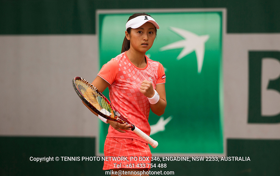 MISAKI DOI (JPN)<br /> <br /> TENNIS - FRENCH OPEN - ROLAND GARROS - ATP - WTA - ITF - GRAND SLAM - CHAMPIONSHIPS - PARIS - FRANCE - 2016  <br /> <br /> <br /> <br /> &copy; TENNIS PHOTO NETWORK