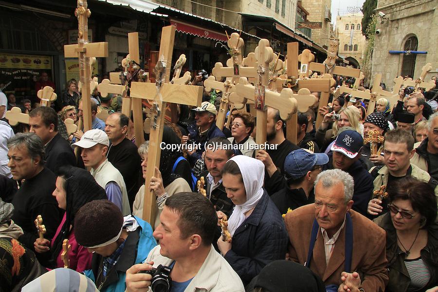 Israel, Jerusalem Old City, Easter, Good Friday at the Via Dolorosa