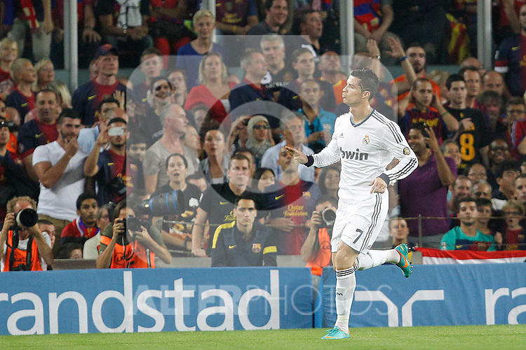 Real Madrid's Cristiano Ronaldo goal during la Liga match on october 7th 2012. ..Photo: Cesar Cebola  / ALFAQUI