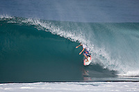 KIEREN PERROW (AUS) surfing at Backdoor, North Shore of Oahu, Hawaii. Photo: joliphotos.com