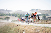 Greg Van Avermaet (BEL/CCC) & Jakob Fuglsang (DEN/Astana)<br /> <br /> 14th Strade Bianche 2020<br /> Siena > Siena: 184km (ITALY)<br /> <br /> delayed 2020 (summer!) edition because of the Covid19 pandemic > 1st post-Covid19 World Tour race after all races worldwide were cancelled in march 2020 by the UCI