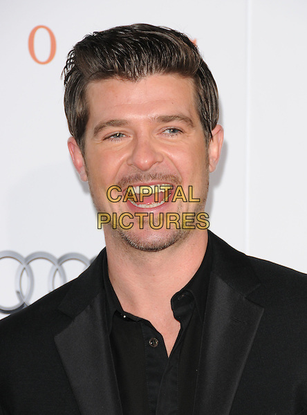 "ROBIN THICKE .The 2009 AFI Fest Screening of ""Precious"" held at The Grauman's Chinese Theatre in Hollywood, California, USA..November 1st, 2009.headshot portrait goatee stubble facial hair mouth open.CAP/RKE/DVS.©DVS/RockinExposures/Capital Pictures"