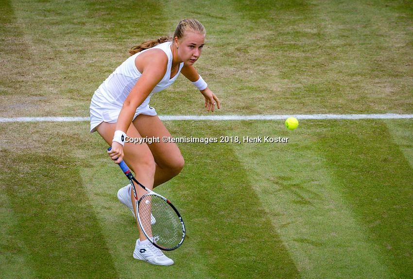 London, England, 4 th. July, 2018, Tennis,  Wimbledon, Womans singles second round, Anna Blinkova (RUS)<br /> Photo: Henk Koster/tennisimages.com