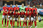 Al-Ahly players pose for a photo before their match with Al-Nassr Hussein Dey at Arab Club championship at Al-Salam Stadium in Cairo, Egypt on July 28, 2017. Photo by Amr Sayed