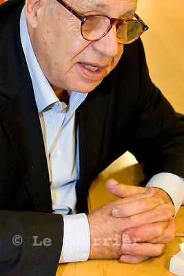 Genève, le 29.10.2008.Jean Ziegler, sociologue et écrivain suisse. .© Le Courrier / J.-P. Di Silvestro