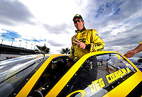 Oct. 31, 2008; Las Vegas, NV, USA: NHRA pro stock driver Jeg Coughlin Jr during qualifying for the Las Vegas Nationals at The Strip in Las Vegas. Mandatory Credit: Mark J. Rebilas-