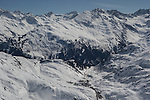 St Christoph seen from St Anton Ski Area, Austria,