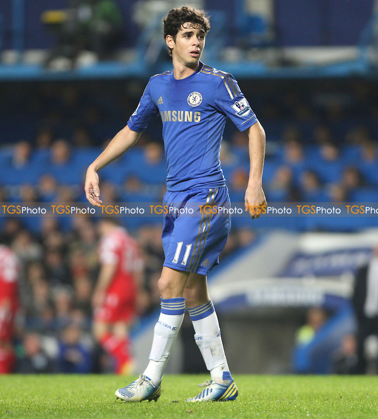 Oscar of Chelsea - Chelsea vs Queens Park Rangers, Barclays Premier League at Stamford Bridge, Chelsea - 02/01/13 - MANDATORY CREDIT: Rob Newell/TGSPHOTO - Self billing applies where appropriate - 0845 094 6026 - contact@tgsphoto.co.uk - NO UNPAID USE.