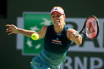 March 17, 2019: Angelique Kerber (GER) in action where she was defeated by Bianca Andreescu (CAN) 6-4, 3-6, 6-4 in the finals of the BNP Paribas Open at the Indian Wells Tennis Garden in Indian Wells, California. ©Mal Taam/TennisClix/CSM