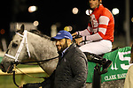 November 23, 2018 : Trainer Brad H. Cox leads Leofric (jockey Florent Geroux, #5) who won the 144th running of the G1 Clark Handicap at Churchill Downs, Louisville, Kentucky. Owner Steve Landers Racing LLC (Steve Landers.)  By Candy Ride x Lady Godiva, by Unbridled's Song. Second place was Bravazo (#6, jockey Joel Rosario.) Mary M. Meek/ESW/CSM