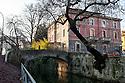 Bridge over Naviglio Martesana (canal) at Piccoli Martiri square in Milan, January, 2011. &copy; Carlo Cerchioli<br /> <br /> Ponte sul Naviglio Martesana vicino alla piazza dei Piccoli Martiri, Milano, gennaio 2011.