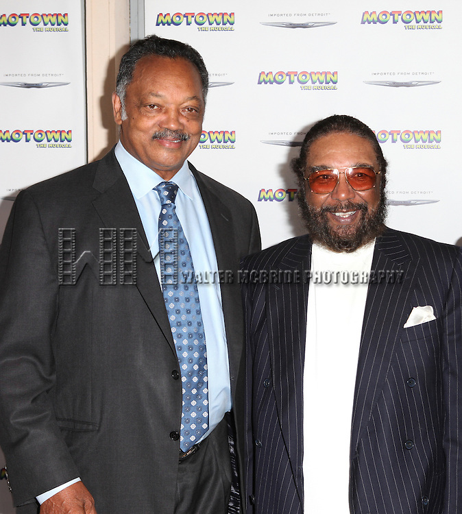 Jesse Jackson and  Brian Holland attending the Broadway World Premiere Launch for 'Motown: The Musical' at the Nederlander in New York. Sept. 27, 2012