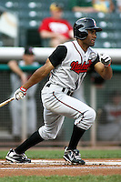 August 12, 2009: Corey Patterson of the Nashville Sounds, Pacific Cost League Triple A affiliate of the Milwaukee Brewers, during a game at the Spring Mobile Ballpark in Salt Lake City, UT.  Photo by:  Matthew Sauk/Four Seam Images
