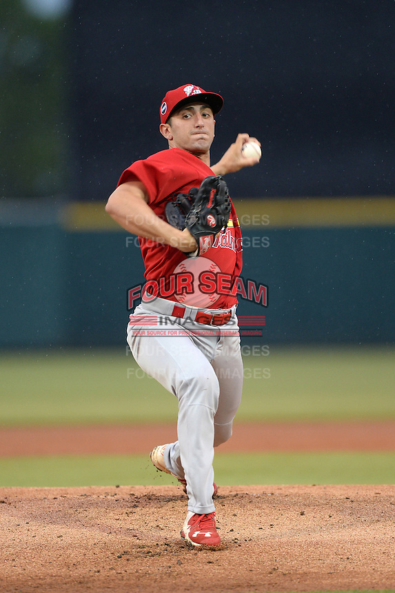 Palm Beach Cardinals pitcher Rob Kaminsky (22) delivers a pitch during a game against the Lakeland Flying Tigers on April 16, 2015 at Joker Marchant Stadium in Lakeland, Florida.  Palm Beach defeated Lakeland 7-1.  (Mike Janes/Four Seam Images)