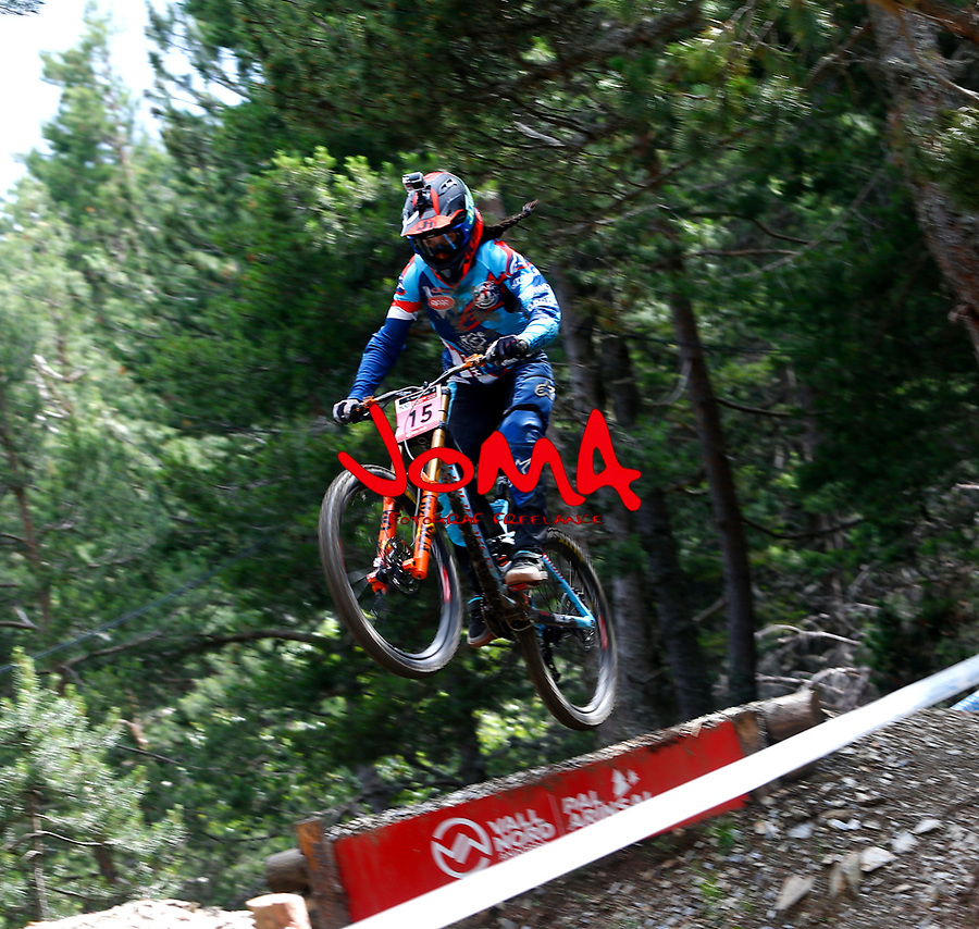 Eleonora Farina (ITA)Downhill training sesion, UCI, Moutain Bike World Cup , Vallnord Andorra. 12/07/2018
