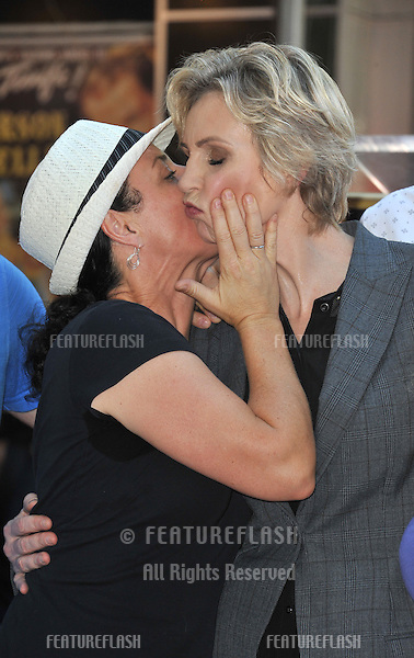 Glee star Jane Lynch &amp; friend on Hollywood Blvd where she was honored with the 2,505th star on the Hollywood Walk of Fame.<br /> September 4, 2013  Los Angeles, CA<br /> Picture: Paul Smith / Featureflash