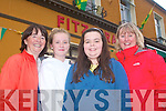 0143-0145.---------.Parade..------.Watching all the colourful floats at the Castlegregory summer festival last Saunday evening were Mary&Aoife Dillane with Dara&Marie Crosbie all from Abbeydorney.