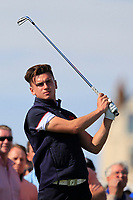 Conor Gough (GB&I) on the 2nd tee during Day 2 Singles at the Walker Cup, Royal Liverpool Golf CLub, Hoylake, Cheshire, England. 08/09/2019.<br /> Picture Thos Caffrey / Golffile.ie<br /> <br /> All photo usage must carry mandatory copyright credit (© Golffile | Thos Caffrey)